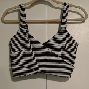 Stripped Cropped Tank Top